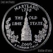 2000-S Maryland State Quarter SILVER PROOF 2000 Silver Quarter