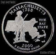 2000-S Massachusetts State Quarter SILVER PROOF 2000 Silver Quarter