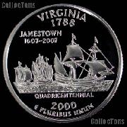 2000-S Virginia State Quarter SILVER PROOF 2000 Silver Quarter