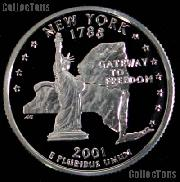 2001-S New York State Quarter PROOF Coin 2001 Quarter