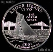 2001-S Rhode Island State Quarter PROOF Coin 2001 Quarter