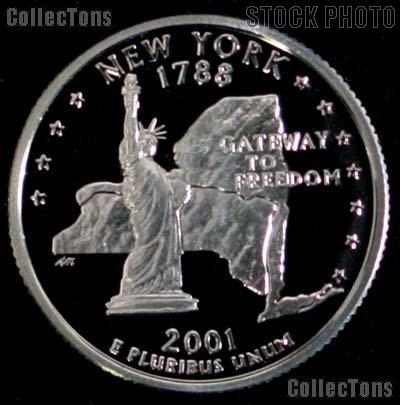 2001-S New York State Quarter SILVER PROOF 2001 Silver Quarter