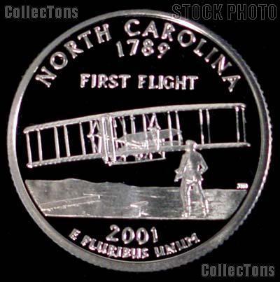 2001-S North Carolina State Quarter SILVER PROOF 2001 Silver Quarter