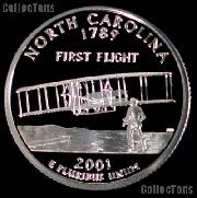 2001-S North Carolina State Quarter SILVER PROOF 2001 Silver Quarter
