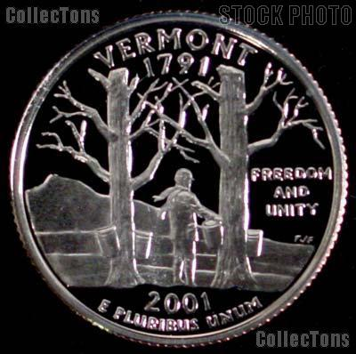 2001-S Vermont State Quarter SILVER PROOF 2001 Silver Quarter