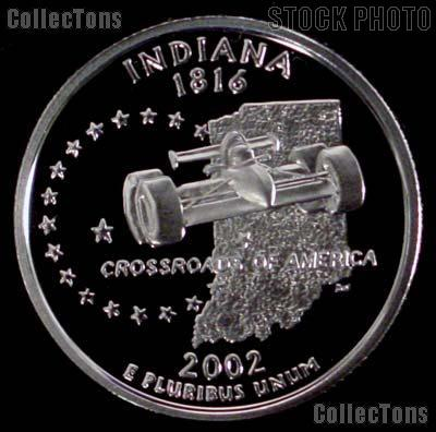 2002-S Indiana State Quarter PROOF Coin 2002 Quarter