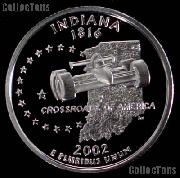 2002-S Indiana State Quarter SILVER PROOF 2002 Silver Quarter