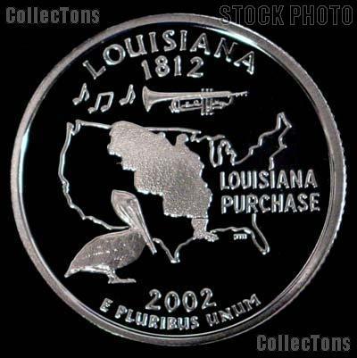 2002-S Louisiana State Quarter SILVER PROOF 2002 Silver Quarter