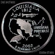 2002-S Louisiana State Quarter SILVER PROOF 2002 Silver Quarter