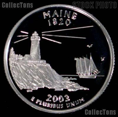 2003-S Maine State Quarter PROOF Coin 2003 Quarter