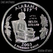 2003-S Alabama State Quarter SILVER PROOF 2003 Silver Quarter