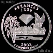 2003-S Arkansas State Quarter SILVER PROOF 2003 Silver Quarter