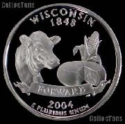 2004-S Wisconsin State Quarter SILVER PROOF 2004 Silver Quarter