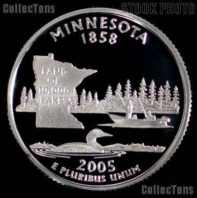 2005-S Minnesota State Quarter SILVER PROOF 2005 Silver Quarter