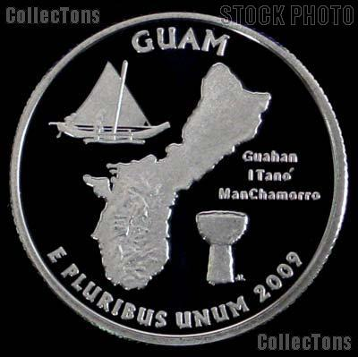 2009-S Guam Quarter SILVER PROOF Coin 2009 Silver Quarter