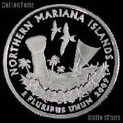 2009-S N. Mariana Islands Quarter SILVER PROOF 2009 Silver Quarter
