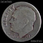 1947-D Roosevelt Dime Silver Coin 1947 Silver Dime