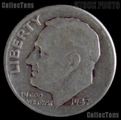 1947-S Roosevelt Dime Silver Coin 1947 Silver Dime