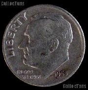1955-S Roosevelt Dime Silver Coin 1955 Silver Dime