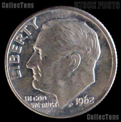 1962 Roosevelt Dime Silver Coin 1962 Silver Dime