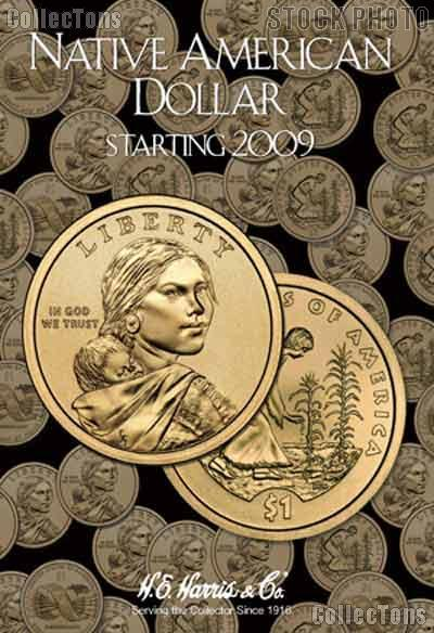 Native American Dollar Coin Folder by Harris 2009-Date Sacagawea