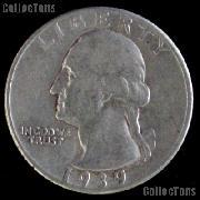 1939-D Washington Quarter Silver Coin 1939 Silver Quarter