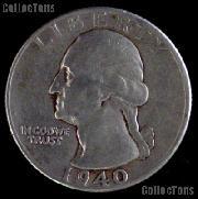 1940-D Washington Quarter Silver Coin 1940 Silver Quarter