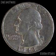 1942-D Washington Quarter Silver Coin 1942 Silver Quarter