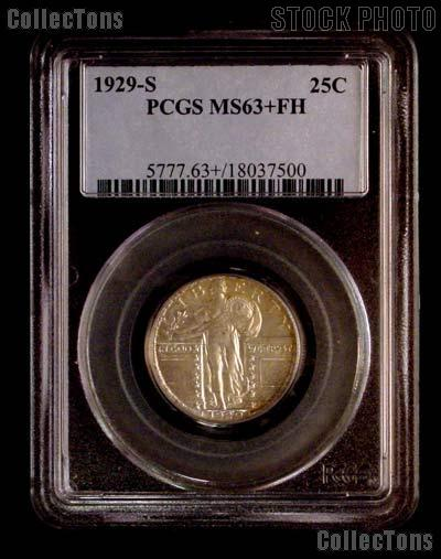 1929-S Standing Liberty Silver Quarter in PCGS MS 63+ FH (Plus & Full Head)