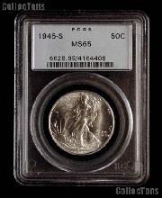 1946-S Walking Liberty Silver Half Dollar in PCGS MS 65
