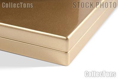Presentation Case for Coins by Lighthouse GOLD Metallic High-Gloss for 20 Quadrums
