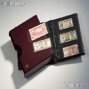 Currency Album Set for Fractional, Modern, & Large Notes by Lighthouse GRANDE in Red