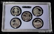 2010 National Parks Quarter Proof Set - 5 Coins