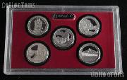 2010 National Parks SILVER Quarter Proof Set - 5 Coins