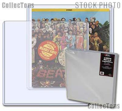 Record Sleeves by BCW Pack of 5 Record Topload Holders for 33rpm Albums