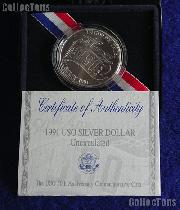 1991-D USO Commemorative Uncirculated Silver Dollar