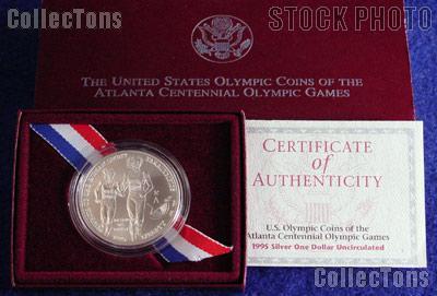 1995-D Atlanta Olympic Games Paralympics Blind Runner Uncirculated Silver Dollar