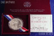 1995-D Atlanta Olympic Games Paralympics Blind Runner Uncirculated Silver Dollar
