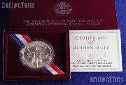 1996-D Atlanta Olympic Games Paralympics Wheelchair Athlete Uncirculated Silver Dollar