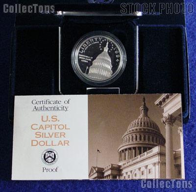 1994 S US Capitol Commemorative Proof Silver Dollar DCAM US Mint