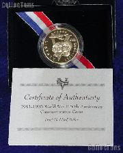 1991-1995 World War II 50th Anniversary Commemorative Clad Proof Half Dollar