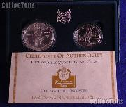 1992 Columbus Quincentenary Commemorative Uncirculated 2 Coin Set