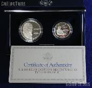 1993 Bill of Rights Commemorative 2 Coin Proof Set