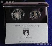 1989 Congressional Commemorative 2 Coin Proof Set