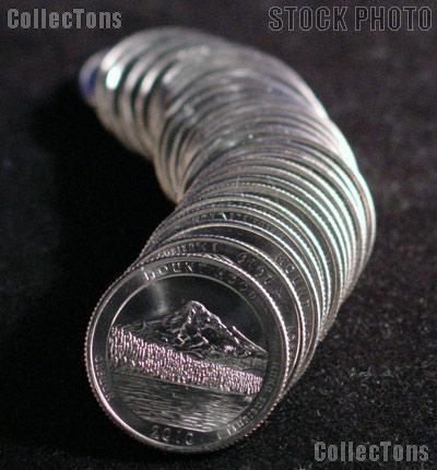 2010-D Oregon Mount Hood National Park Quarters Bank Wrapped Roll 40 Coins GEM BU