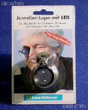 LED Magnifier by Lighthouse (LU70LED) 10x Jeweler's Eyeglass Illuminated Magnifier