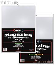 Magazine Storage Bags THICK  Re-sealable by BCW Pack of 100 Polypropylene Resealable Magazine Bags
