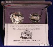 1991 Mount Rushmore Commemorative 2 Coin Proof Set