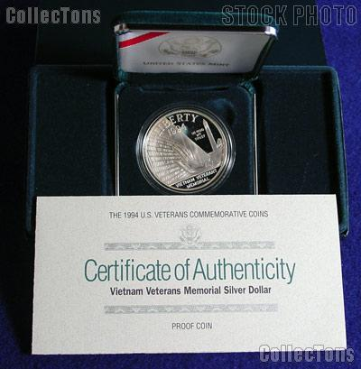 1994-P Vietnam Veterans Commemorative Proof Silver Dollar