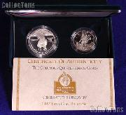 1992 Columbus Quincentenary 2 Coin Commemorative Proof Set